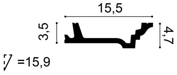 Фото размеров карниза Orac C305