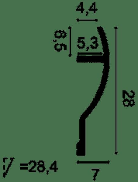 Фото размеров карниза Orac C372