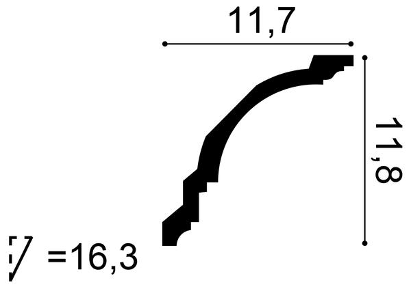 Фото размеров карниза Orac CX107