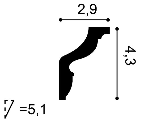 Фото размеров карниза Orac CX148