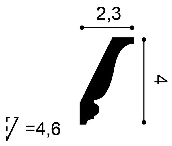 Фото размеров карниза Orac CX151