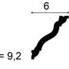 Фото размеров карниза Orac CX177