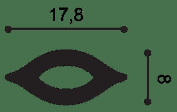 Фото размеров молдинга Orac G76