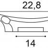 Фото размеров молдинга Orac K201