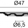 Фото размеров молдинга Orac R17
