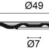 Фото размеров молдинга Orac R18