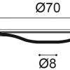 Фото размеров молдинга Orac R73
