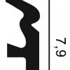 Фото размеров молдинга Orac SX122