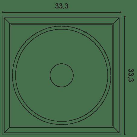 Фото размеров молдинга Orac W122