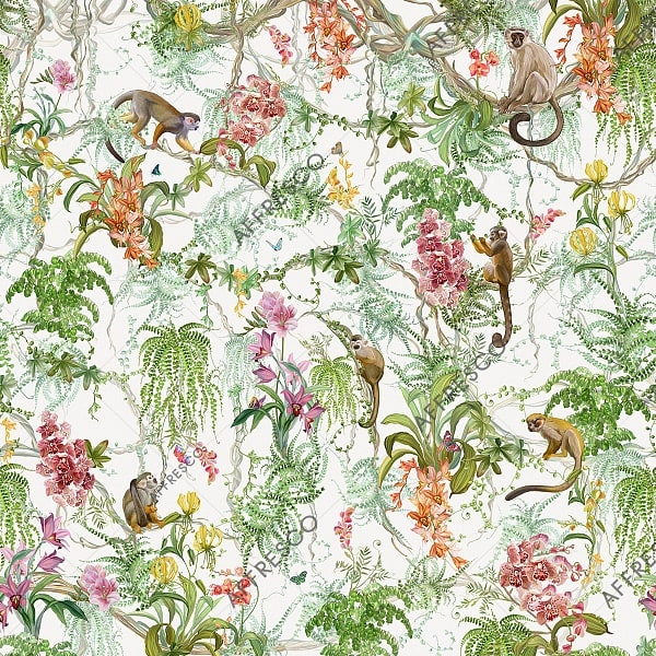 Фото фрески Affresco French Garden AF959-COL2