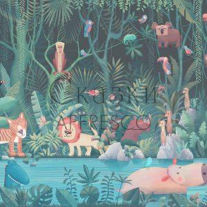 Фото фрески Affresco Fairytales AB614-COL1