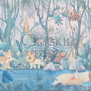 Фото фрески Affresco Fairytales AB614-COL3